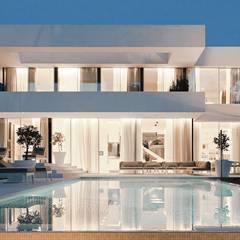 Casa M: Piscina in stile in stile Moderno di monovolume architecture + design