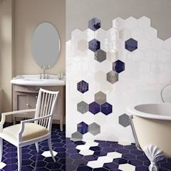 Hexatile Brillo: Baños de estilo moderno de Equipe Ceramicas