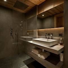 Chalet Gstaad: rustic Bathroom by Ardesia Design