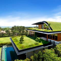 MEERA SKY GARDEN HOUSE: modern Houses by Guz Architects