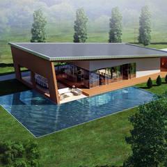 CO Mimarlık Dekorasyon İnşaat ve Dış Tic. Ltd. Şti. - O.S. Çalışma Ofisi: modern tarz Evler