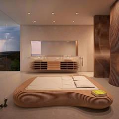 Schlafzimmer Villa Q: moderne Schlafzimmer von form.bar