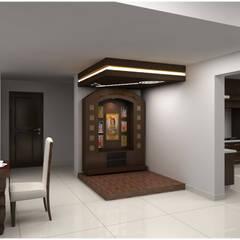 Pooja room:  Houses by Neeras Design Studio
