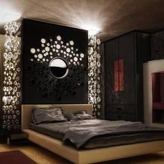 Glamour Bedroom:  Bedroom by Neeras Design Studio