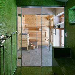 Spa de estilo escandinavo por Architectural Interiors + Superyacht Photographer