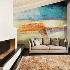 Lato 3: styl nowoczesne, w kategorii Ściany i podłogi zaprojektowany przez Trufle Mozaiki