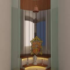 pooja room:   by drashtikon designer consultant
