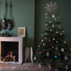 Christmas '14: country Living room by Farrow & Ball