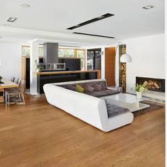 IQube House_: styl translation missing: pl.style.salon.nowoczesny, w kategorii Salon zaprojektowany przez ARCHiPUNKTURA .architekci detalu