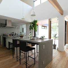 House with the bath of bird: Sakurayama-Architect-Designが手掛けたtranslation missing: jp.style.キッチン.modernキッチンです。