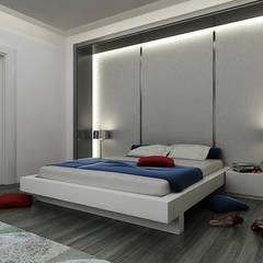 Niyazi Özçakar İç Mimarlık - E.K. EVİ: modern tarz Yatak Odası