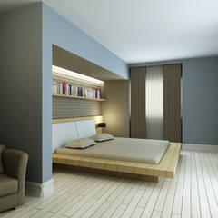 Niyazi Özçakar İç Mimarlık - M.A. EVİ: modern tarz Yatak Odası