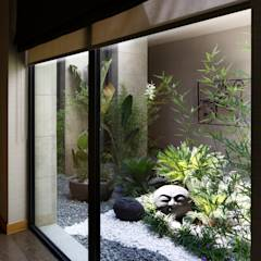 """Hakan Helvacıoğlu / H2C  - """"Villa in Mandarin Oriental"""" Bodrum: modern tarz Bahçe"""