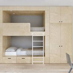 Dormitorios infantiles de estilo minimalista por INT2architecture