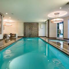 Suburban villa: Winnington Road: modern Pool by Wolff Architects