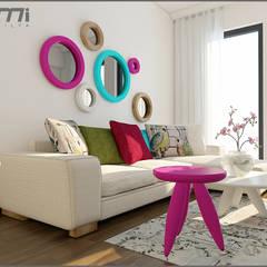Origami Mobilya - Oturma Odası Tasarımı: modern tarz Oturma Odası