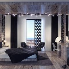 Mass Architects - A1 Residence Penthouse: modern tarz Yatak Odası