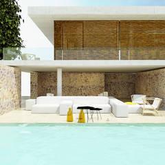 Casa I+F: Piscinas mediterrânicas por Artspazios, arquitectos e designers