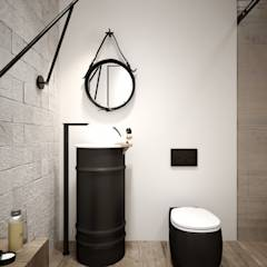 GKHNERDGN ARCHİTECTURE OFFİCE - Banyo Dekorasyonu: modern tarz Banyo