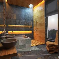 Дом по Рублево-Успенскому шоссе : Ванные комнаты в translation missing: ru.style.Ванные-комнаты.eklektichnyy. Автор - GM-interior