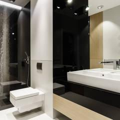 łazienka : styl translation missing: pl.style.Łazienka.minimalistyczny, w kategorii Łazienka zaprojektowany przez Pracownia Projektowa Dragon Art