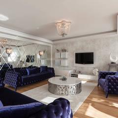 Mimoza Mimarlık - Phaselis Konutları Antalya: modern tarz Oturma Odası