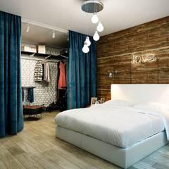 Каменный лофт: Спальни в translation missing: ru.style.Спальни.loft. Автор - CO:interior