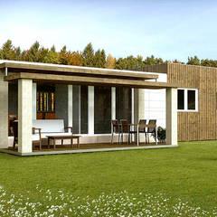 Casa Cube de 100 m2: Casas de estilo moderno de Casas Cube