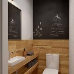Интерьер OOD: Ванные комнаты в translation missing: ru.style.Ванные-комнаты.minimalizm. Автор - INT2architecture