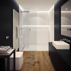 ofdesign Oskar Firek Loft Apartment łazienka: styl translation missing: pl.style.Łazienka.minimalistyczny, w kategorii Łazienka zaprojektowany przez OFD architects