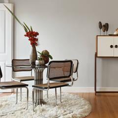 Apartamento A3_Reabilitação Arquitectura + Design Interiores: Salas de jantar ecléticas por Tiago Patricio Rodrigues, Arquitectura e Interiores