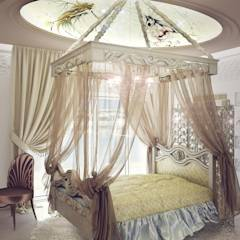 "LORA BERGIY ""daughter room"": Спальни в translation missing: ru.style.Спальни.eklektichnyy. Автор - 3D_DESIGNER_ALLA"