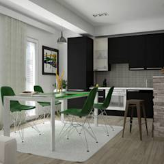 Render e soluzione: Cucina in stile in stile Moderno di Santoro Design Render