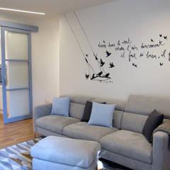 translation missing: id.style.ruang-keluarga.modern Ruang Keluarga by studio radicediuno