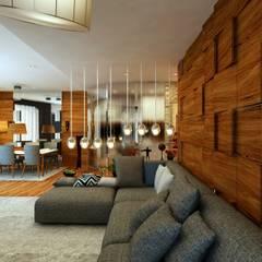 GKHNERDGN ARCHİTECTURE OFFİCE - Oturma Grubu: modern tarz Oturma Odası