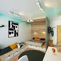 KEFIR HOME: Спальни в translation missing: ru.style.Спальни.minimalizm. Автор - IK-architects
