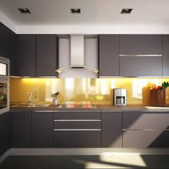 Квартира для души: Кухни в translation missing: ru.style.Кухни.minimalizm. Автор - Polovets & Tymoshenko design studio
