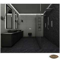 Plaza Yapı Malzemeleri - Doğaltaş Görünümlü seramikler: minimal tarz tarz Banyo