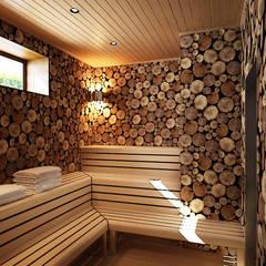 Spa de estilo minimalista por Валерия Лазарева - архитектор, дизайнер интерьера