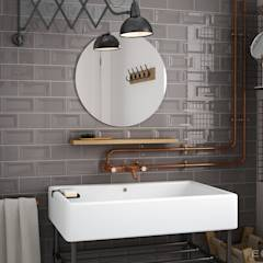 Evolution Inmetro Dark Grey / Evolution Gris Oscuro 7,5x15: Baños de estilo industrial de Equipe Ceramicas