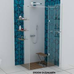 Erdem Duşakabin Tasarım Atölyesi - Teknesiz cam duşakabin uygulaması: modern tarz Banyo