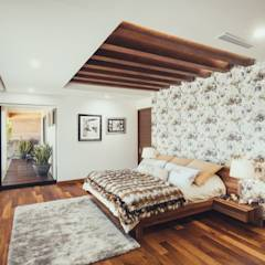 Residencia R53: Recámaras de estilo moderno por Imativa Arquitectos