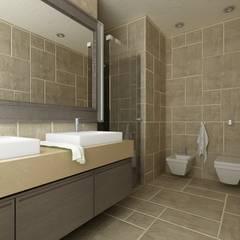 ... Interno: Bagno in stile in stile Mediterraneo di De Vivo Home Design