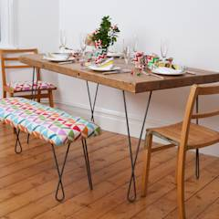 Dining set: industrial Dining room by Deja Ooh