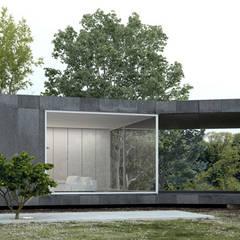 eco casa: Habitações translation missing: pt.style.habitações.minimalista por Artspazios, arquitectos e designers