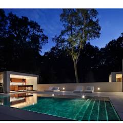New Canaan Residence: modern Pool by Specht Architects