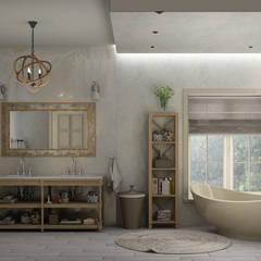 ванная комната в частном доме: Ванные комнаты в translation missing: ru.style.Ванные-комнаты.eklektichnyy. Автор - Eclectic DesignStudio
