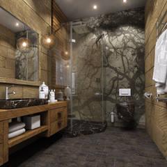 Дизайн проект квартиры: Ванные комнаты в translation missing: ru.style.Ванные-комнаты.eklektichnyy. Автор - MONTE FEE INTERIOR DESIGN STUDIO