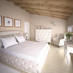 CAMERA DA LETTO : Camera da letto in stile in stile Rustico di Laura Sardano