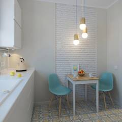 Квартира для молодой девушки: Кухни в translation missing: ru.style.Кухни.skandinavskiy. Автор - Ekaterina Donde Design